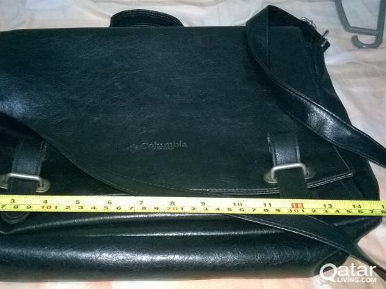 Columbia Classic leather laptop sling bag